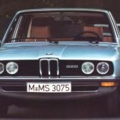 BMW E12 голубая