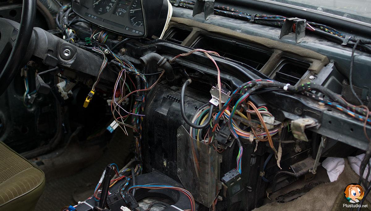 BMW 735 Ремонт печки