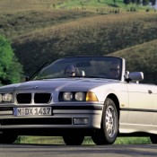 BMW E36 кабриолет серебрянный