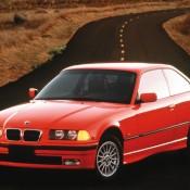 BMW E36 красная купе