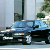 BMW E36 седан черный