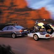 BMW E39 с мотоциклом