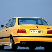 BMW M3 E36 желтая