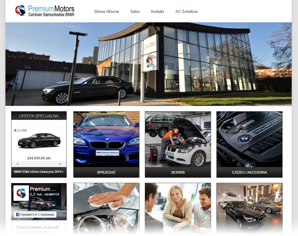 Salon serwis BMW Premium Motors. Centrum samochodów BMW, Reduta Żbik 4,80-761 Gdańsk