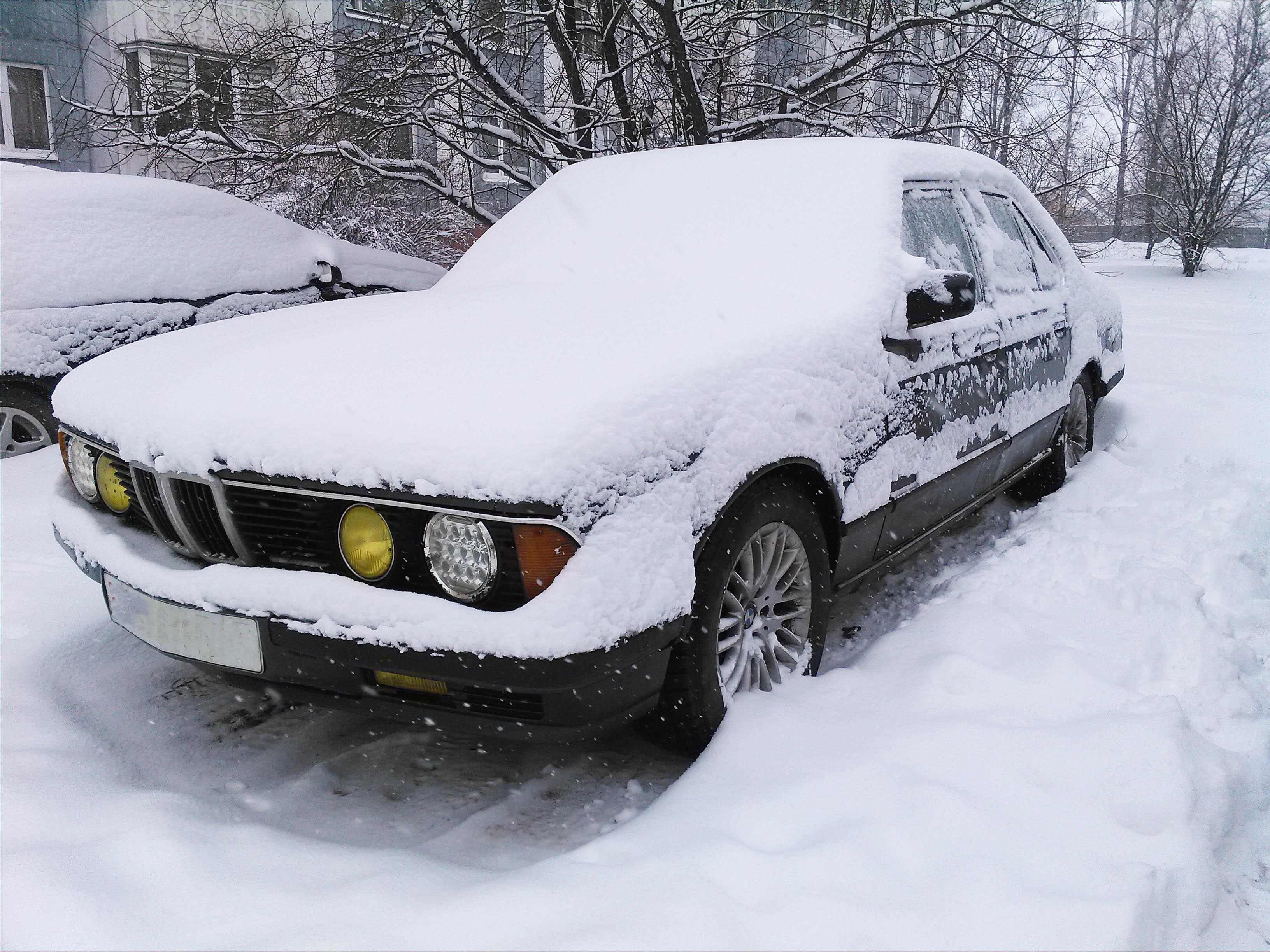 bmw e23 зимой