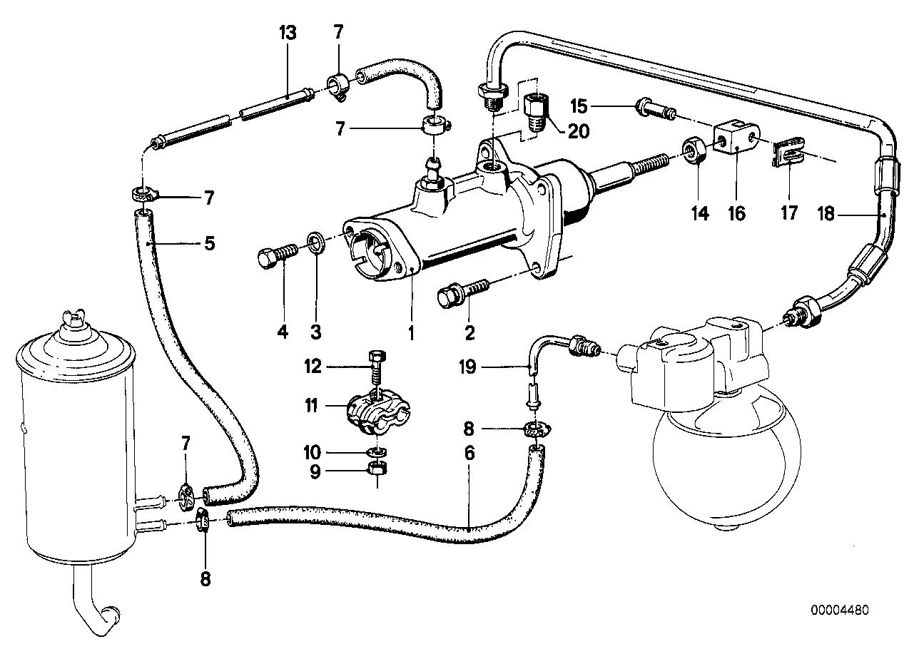 гидравлический усилитель тормозов BMW e23